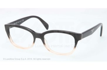 Prada PR20PV Progressive Prescription Eyeglasses QFJ1O1-52 - Black Gradient Pink Frame