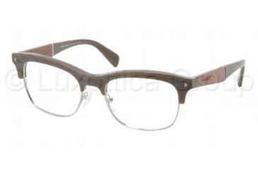 4bf40307498 Prada PR22OV Eyeglass Frames JAB1O1-5419 - Wood Olive Green Frame