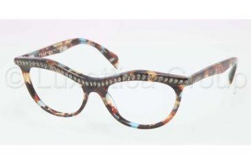 350323b7a72 Prada PR22PV Eyeglass Frames NAG1O1-5216 - Havana Spotted Blue Frame