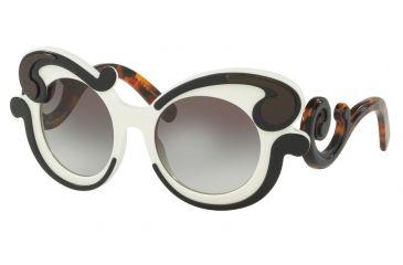 5dbf10c17a17d ... authentic prada pr23nsf sunglasses vaj0a7 52 black ivory frame grey  gradient lenses ec2b7 4777b