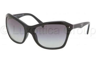 Prada PR24NS Sunglasses 1AB3M1-6118 - Gloss Black Gray Gradient