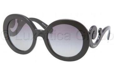 Prada PR27NS Sunglasses 1AB3M1-5522 - Black Frame, Gray Gradient Lenses