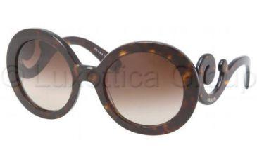 Prada PR27NS Sunglasses 2AU6S1-5522 - Havana Frame, Brown Gradient Lenses