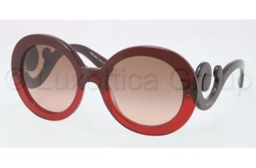 Prada PR27NS Bifocal Prescription Sunglasses PR27NS-MAX0A5-5522 - Frame Color Red Gradient, Lens Diameter 55 mm