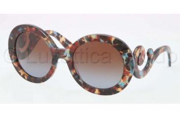 Prada PR27NS Sunglasses NAG0A4-5522 - Havana Spotted Blue Frame, Brown Gradient Lenses