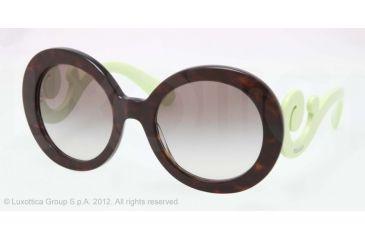 Prada PR27NS Sunglasses QFL0A7-55 - Havana Frame, Gray Gradient Lenses