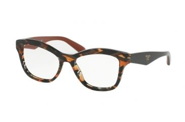 e04b7c3dcb7 Prada PR29RV Bifocal Prescription Eyeglasses VAN1O1-52 - Sheaves Grey  Orange Frame