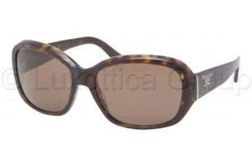 Prada PR31NS Single Vision Prescription Sunglasses PR31NS-2AU8C1-5816 - Lens Diameter 58 mm, Frame Color Havana