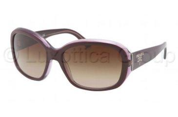 Prada PR31NS Prescription Sunglasses PR31NS-IAY6S1-5816 - Lens Diameter 58 mm, Frame Color Top Violet/Violet Transparent