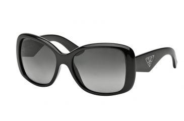 8ea254adfb6 Prada PR32PS Sunglasses 1AB5W1-57 - Black Frame