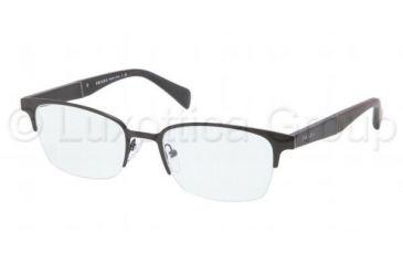 Prada PR50PV Eyeglass Frames 1BO1O1-5319 - Black Demi Shiny Frame
