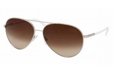 Prada PR51MS Sunglasses, Silver Frame, Brown Gradient 1BC6S1-5714