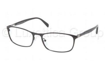 Prada PR51PV Single Vision Prescription Eyeglasses 7AX1O1-5418 - Black Frame
