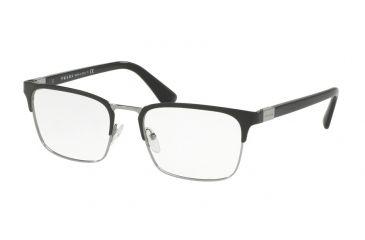 6e023c44497 Prada PR54TV Eyeglass Frames 1AB1O1-53 - Black Gunmetal Frame