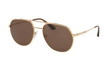 89c97e15a34d Prada PR55US Sunglasses 5AK8C1-54 - Gold Frame, Brown Lenses: PR55US ...