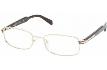 Prada PR57NV Single Vision Prescription Eyewear ZVN1O1-5218 - Pale Gold