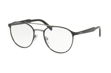 bd5c0ebaa8def Prada PR60TV Progressive Prescription Eyeglasses 1AB1O1-51 - Black Frame