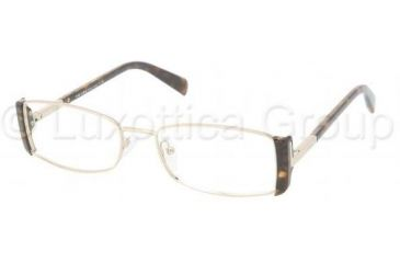 Prada PR61NV Bifocal Prescription Eyeglasses 2AU1O1-5117 - Pale-gold/Havana