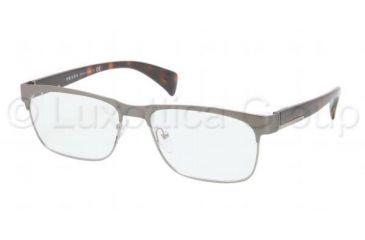 Prada PR61PV Progressive Prescription Eyeglasses LA81O1-5316 - Matte Gunmetal Frame, Demo Lens Lenses