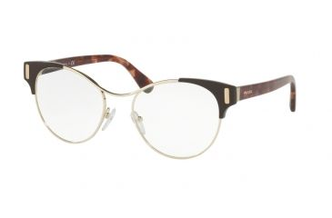 eb7dc488b2d9 Prada PR61TV Eyeglass Frames DHO1O1-52 - Pale Gold Brown Frame