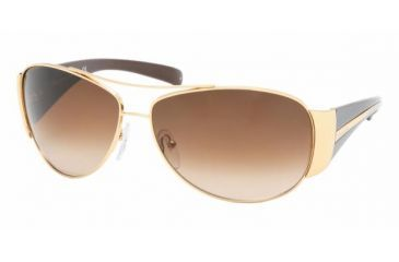 Prada PR64IS #5AK6S1 - Shiny Gold Frame, Brown Gradient Lenses