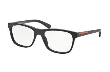 20a2d08c534 Prada PS01FVA Eyeglass Frames 1BO1O1-55 - Matte Black Frame