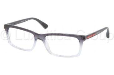 Prada PS02CV Progressive Prescription Eyeglasses JAU1O1-5517 - Striped Gray Demo Lens Frame