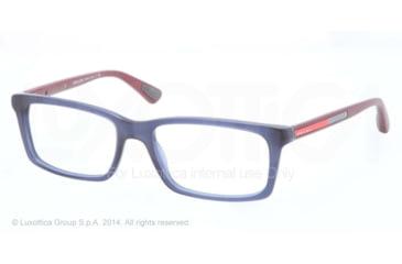 Prada PS02CV Progressive Prescription Eyeglasses SMI1O1-53 - Matte Avio Frame