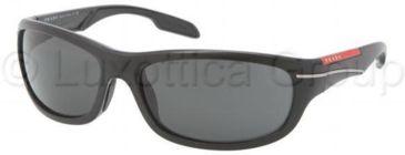 Prada PS02NS Bifocal Prescription Sunglasses PS02NS-1BO1A1-6117 - Lens Diameter 61 mm, Frame Color Black Demi Shiny
