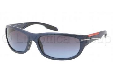 Prada PS02NS Sunglasses 7YO5I1-6117 - Blue Demi Shiny Frame, Blue Gray Gradient Lenses