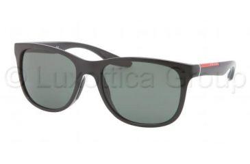Prada PS03OS Sunglasses 1AB3O1-5518 - Black Frame, Gray Green Lenses