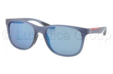 Prada PS03OS Sunglasses NAS1C0-5518 - Brown Demi Shiny Frame, Brown Mirror Gold Lenses