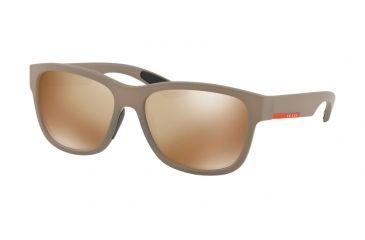 e64aa4cb2eb Prada PS03QS Sunglasses CCHHD0-57 - Brown Rubber Frame