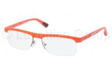 Prada PS04CV Progressive Prescription Eyeglasses MAC1O1-5316 - Orange Frame