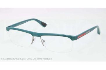 Prada PS04CV Progressive Prescription Eyeglasses PDD1O1-53 - Green Demi Shiny Frame
