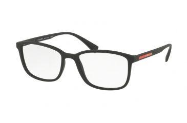 8649002631 Prada PS04IV Eyeglass Frames DG01O1-53 - Black Rubber Frame