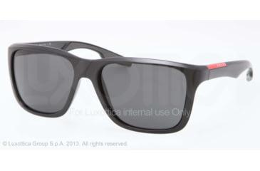Prada PS04OS Sunglasses 1BO1A1-59 - Black Demishiny Frame, Gray Lenses