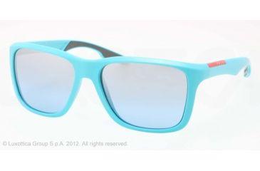 Prada PS04OS Sunglasses DHB2B2-59 - Azure Demishiny Frame, Mirror Azure Lenses