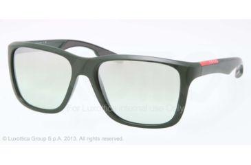 Prada PS04OS Sunglasses DHC2C0-59 - Green Demi Shiny Frame, Mirror Green Lenses