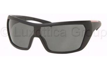 Prada PS05HS Sunglasses 1BO1A1-0131 - Matte Black+black Rubb. Gray