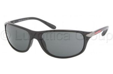 Prada PS05MS Single Vision Prescription Sunglasses PS05MS-1AB1A1-6417 - Frame Color Black, Lens Diameter 64 mm