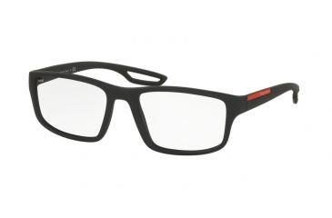 e70a25ff8a42 Prada PS09GV Bifocal Prescription Eyeglasses DG01O1-53 - Black Rubber Frame