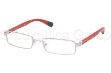 Prada PS53CV Bifocal Prescription Eyeglasses 1AP1O1-5117 - Silver Demi Shiny Frame