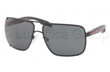 Prada PS53OS Sunglasses 1BO1A1-6312 - Black Demi Shiny Frame, Gray Lenses