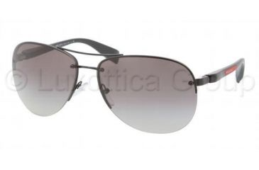 Prada PS56MS Sunglasses 1BO3M1-6214 - Demi Shiny Black Frame, Gray Gradient Lenses