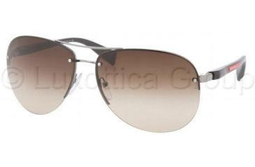 Prada PS56MS Sunglasses 5AV6S1-6214 - Gunmetal Brown Gradient