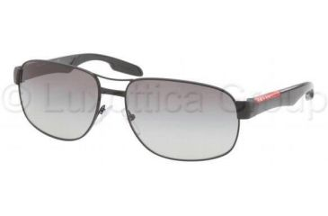 Prada PS58NS Sunglasses 1BO3M1-6116 - Demi Shiny Black Frame, Gray Gradient Lenses