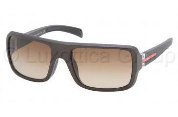 Prada Sunglasses PS01IS, Prada PS 01IS Sunglasses Styles Matte Brown Frame / Brown Gradient Lenses