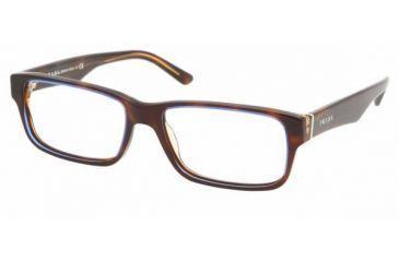 9811c0c35ba7d Prada PR 16MV Eyeglasses Styles - Tortoise Denim Frame w Non-Rx 53 mm