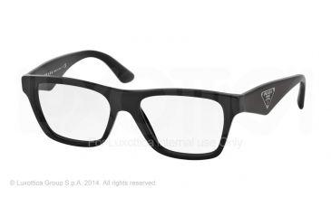 3fde9c8467f Prada TRIANGLE PR20QV Eyeglass Frames 1AB1O1-50 - Black Frame